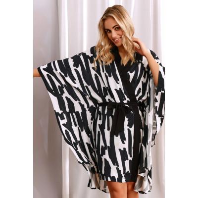 Халат-кимоно со съемным поясом