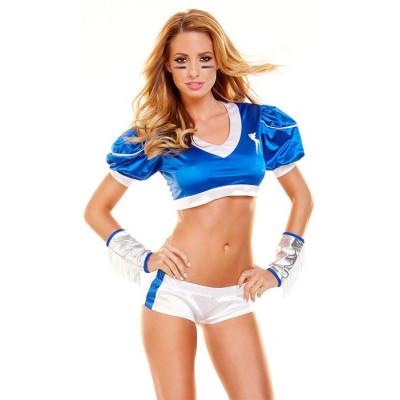 Синe-белый костюм футболистки Tight End