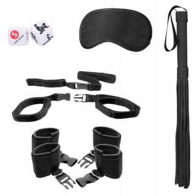 Черный игровой набор БДСМ Bed Post Bindings Restraing Kit