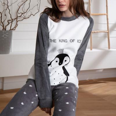 Теплый домашний костюм с пингвином